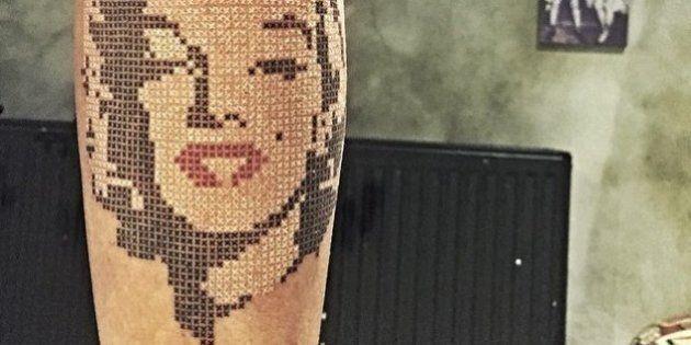 Ces tatouages en points de croix pourraient plaire à votre grand-mère