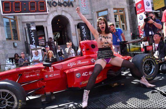 Violence, détention, intimidation: ce qui s'est passé après la manifestation Femen au Grand