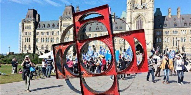 À pied de Montréal à la colline du Parlement en soutien à