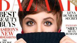 Lena Dunham rétro en couverture du Harper's Bazaar