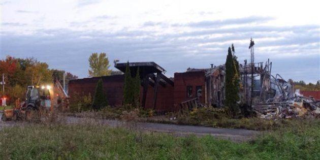 L'ancien poste de police de Kanesatake détruit par les