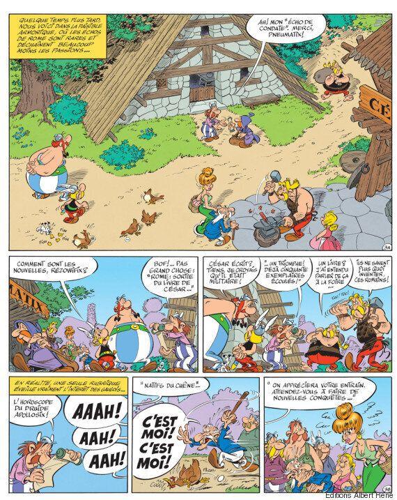 Astérix et le Papyrus de César: la couverture et le thème
