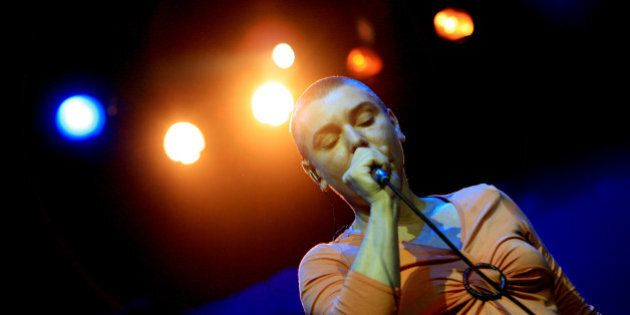 Irish Singer Sinead O'Connor performs at the East Coast Blues and Roots Festival in Byron Bay, Australia,...