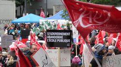 Des milliers d'enseignants manifestent à Montréal