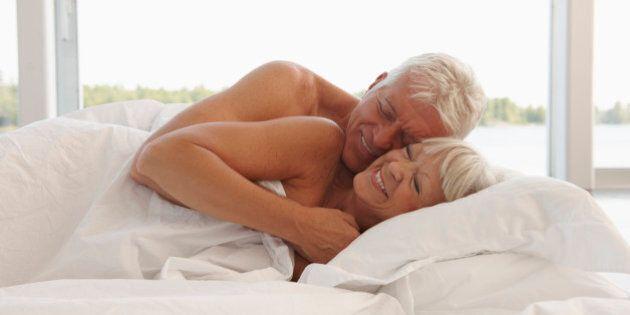 Mature Couple Cuddling In