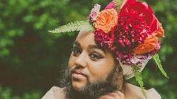 Cette femme barbue en robe de mariée va vous