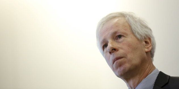 Canada's Foreign Minister Stephane Dion listens to a question after delivering a speech at the University...