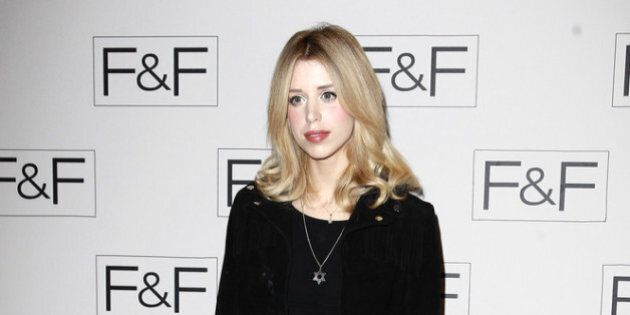 LONDON, UNITED KINGDOM - APRIL 03: Peaches Geldof attends the F&F aw14 Fashion show at Somerset House...