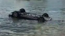 Sa voiture s'est retrouvée dans l'eau à cause d'une araignée