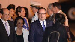 François Hollande en visite à