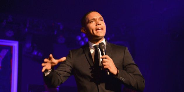 EAST HAMPTON, NY - AUGUST 15: Trevor Noah speaks at Apollo in the Hamptons 2015 at The Creeks on August...
