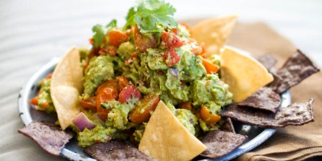 In this image taken on January 7, 2013, a recipe for roasted fresh salsa guacamole is shown in Concord,...
