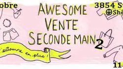 La deuxième «Awesome vente seconde main» des blogueuses mode les 3 et 4 octobre