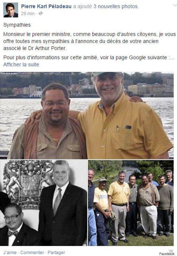 D'ironiques sympathies de PKP à Philippe Couillard suite à l'annonce du décès d'Arthur Porter