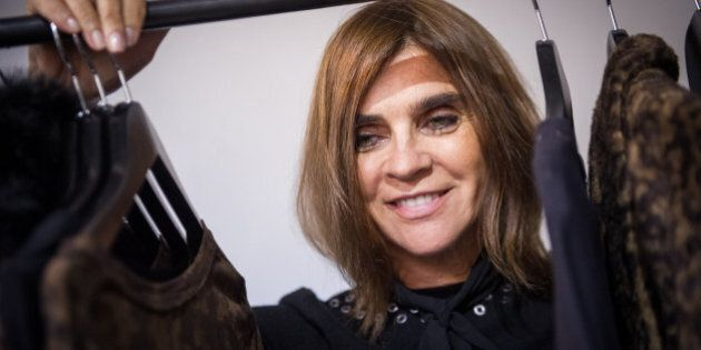 PARIS, FRANCE - SEPTEMBER 30: Carine Roitfeld attends the Carine Roitfeld Collection For Uniqlo : Presentation...