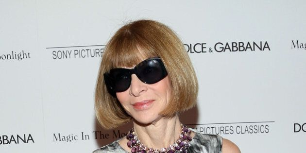 NEW YORK, NY - JULY 17: Editor-in-Chief of Vogue Anna Wintour attends 'Magic In The Moonlight' premiere...