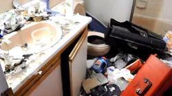 Cet appartement a été laissé en piteux état par son
