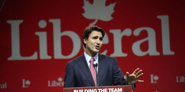 MARKHAM, ON - SEPTEMBER 12: Liberal Party Leader Justin Trudeau gives speech at the Hilton/Toronto Markham...