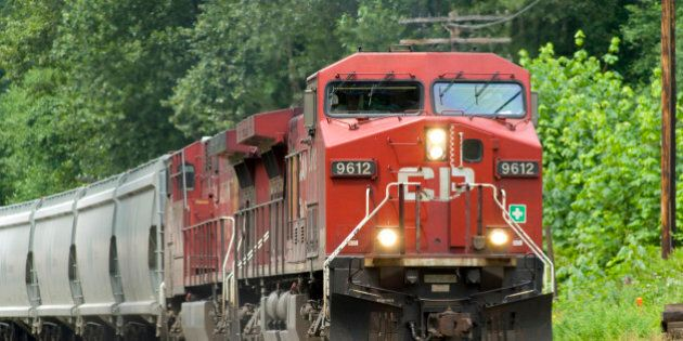 CP Freight Train with Potash