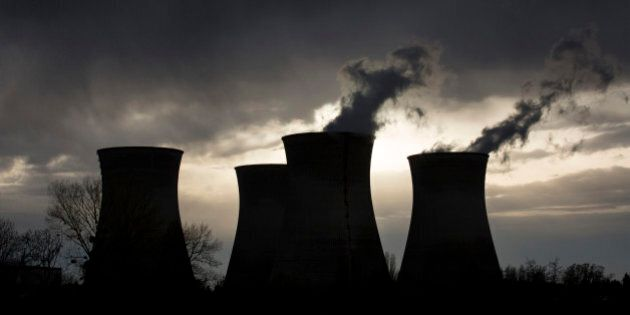 FILE- This Friday, April 11, 2015 file photo shows a view of the Bugey nuclear plant in Saint-Vulbas,...