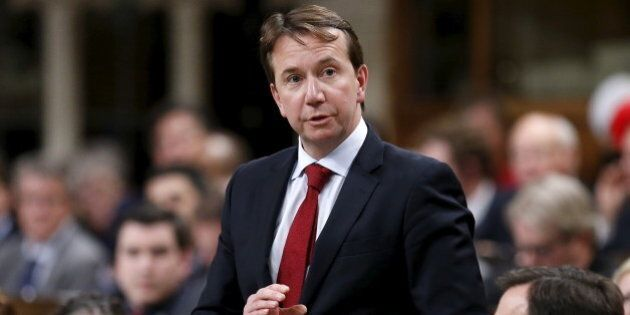 Canada's Treasury Board President Scott Brison speaks during Question Period in the House of Commons...