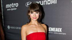 Gala Gémeaux 2015: la jolie robe rouge de Sophie Desmarais signée Xavier