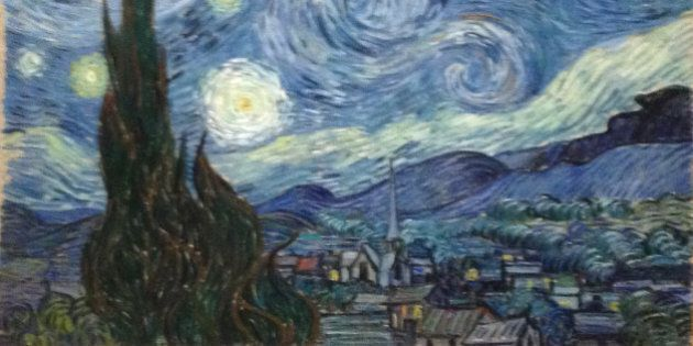 NEW YORK, NY - MARCH 9: Starry Night by Vincent van Gogh at Moma on March 9, 2016 in New York, New York....
