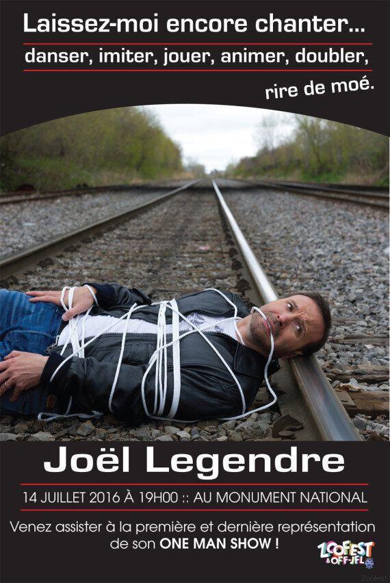 Un «one man show» de Joël Legendre à