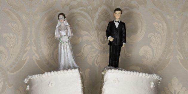 Wedding cake visual metaphor with figurine cake