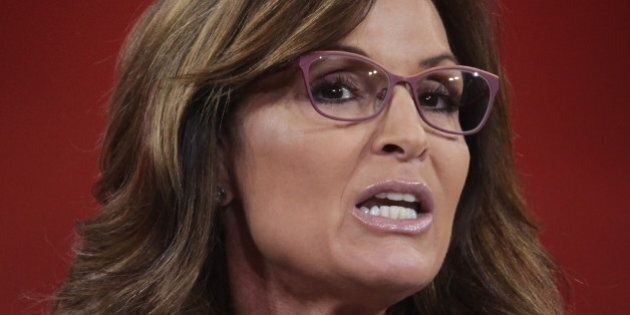 NATIONAL HARBOR, MD - FEBRUARY 26: Former Alaska Governor Sarah Palin addresses the 42nd annual Conservative...