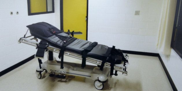 402222 03: (FILE PHOTO) This undated photo shows the death chamber at the Georgia Diagnostic Prison in...