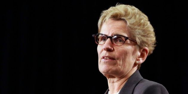 TORONTO, ON - APRIL 16: Premier Kathleen Wynne during a news conference on government assets, April 16,...