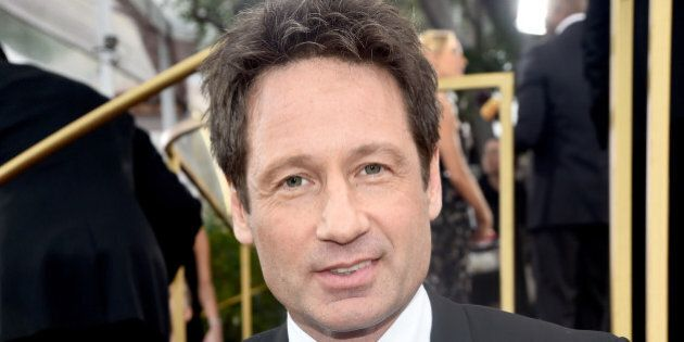 BEVERLY HILLS, CA - JANUARY 11: 72nd ANNUAL GOLDEN GLOBE AWARDS -- Pictured: Actor David Duchovny arrives...