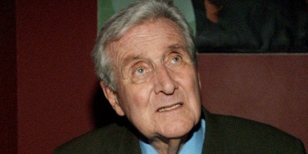 401076 03: Actor Patrick MacNee during booksigning of his memoirs 'Blind In One Ear and the Avengers...