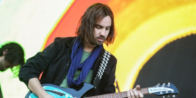 Kevin Parker of Tame Impala performs at Outside Lands Music Festival at Golden Gate Park on Saturday,...
