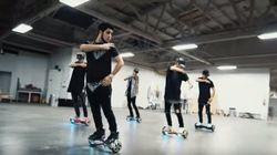 Ces garçons maîtrisent leur skate gyroscopique comme personne