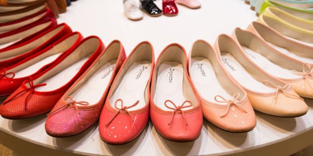 PARIS, FRANCE - SEPTEMBER 29:  Creations are seen during the Repetto Presentation on September 29, 2015 in Paris, France.  (Photo by Richard Bord/Getty Images)