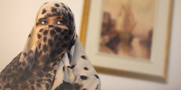 TORONTO, ON - FEBRUARY 12: Zunera Ishaq, woman who launched the legal challenge against Ottawa's niqab...