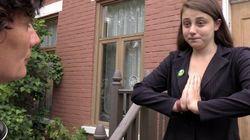 Faire du porte-à-porte à 17 ans... et être convaincante!