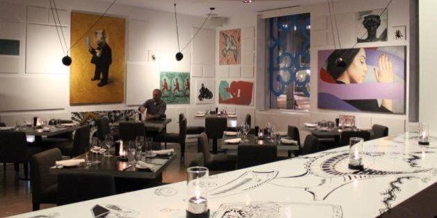 Fruits de mer et œuvres d'art au restaurant êat de l'hôtel W Montréal