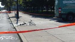 Un cycliste happé au centre-ville de