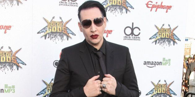 Marilyn Manson attends the 6th Annual Revolver Golden Gods Award Show at Club Nokia on April 23, 2014...