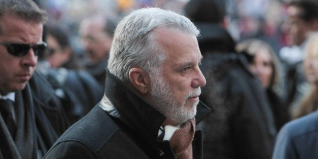 MONTREAL, QC - JANUARY 22: Premier of Quebec Philip Couillard attends the State Funeral Service for Celine...