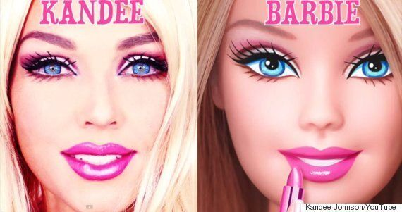 Kandee Johnson se transforme en Barbie en 90 secondes grâce au