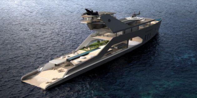 Ce yacht de 180 mètres de long est beaucoup trop luxueux pour l'entendement