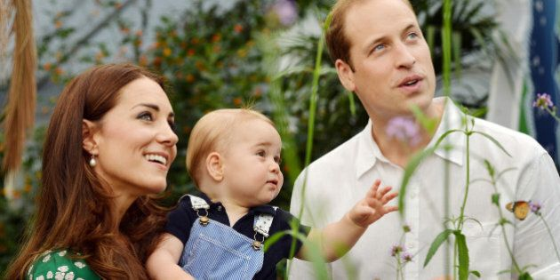 FILE - This photo taken Wednesday, July 2, 2014, and released Monday, July 21, 2014, to mark Prince George's...