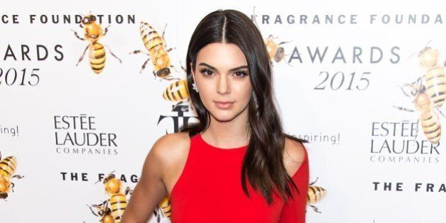 NEW YORK, NY - JUNE 17: Model Kendall Jenner attends 2015 Fragrance Foundation Awards at Alice Tully...