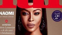 Naomi Campbell ose les seins nus sur la Une du magazine Lui