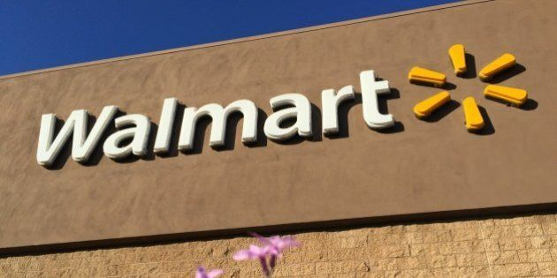 Retail signs. Walmart store in Carson, California, on January 27,