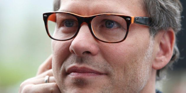 TORONTO, ON - MAY 20: Jacques Villeneuve, Indy 500 champion and F1world champion, made an appearance...